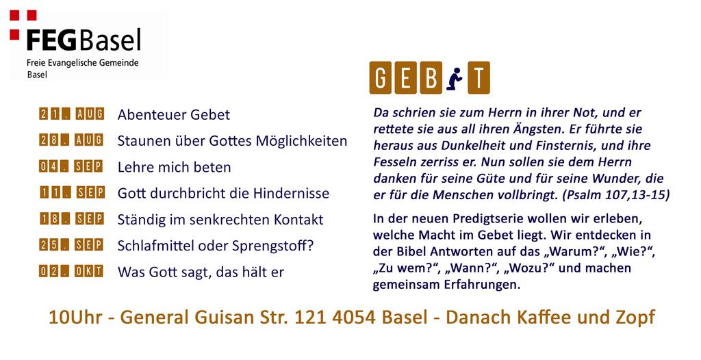 FEG Basel | Freie Evangelische Gemeinde Basel